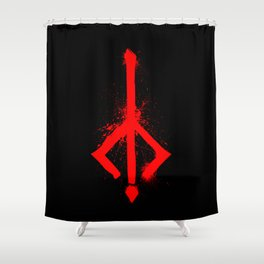 Bloody Rune Shower Curtain