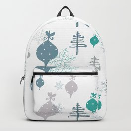 Christmas white ornaments Backpack