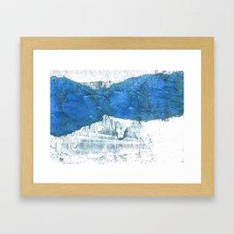 Lapis lazuli abstract watercolor Framed Art Print