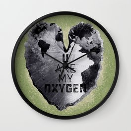 Autumn Love - You Are My Oxygen Wall Clock