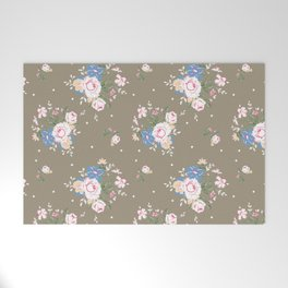 Heirloom Rose - Raw Umber Welcome Mat