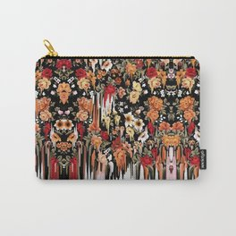 Free Falling, melting floral pattern Carry-All Pouch