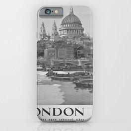 retro classic GWR London poster iPhone Case