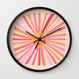 Sunshine – Pink Wall Clock