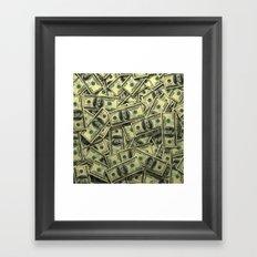 100 dollar cash get rich Framed Art Print