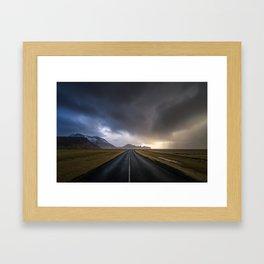 Ring road - Iceland Framed Art Print
