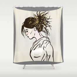 The Look of Despair Shower Curtain