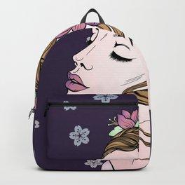 Flower Crown Girl Backpack