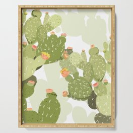 blooming cactus Serving Tray