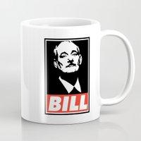bill murray Mugs featuring Bill F* Murray by Thalesrocha