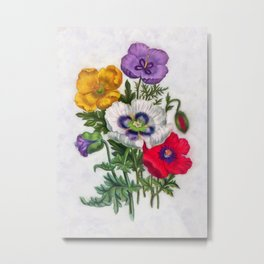 Colorful poppies Metal Print
