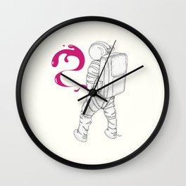 P{ee}ink in Space Wall Clock