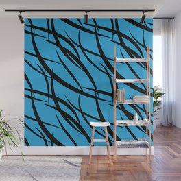 Sea intertwining black lines. Wall Mural