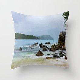Frenchman's Cove St. Thomas, USVI Throw Pillow