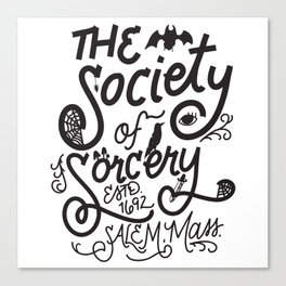 The Society of Sorcery Canvas Print