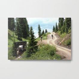 Black Bear Pass Road - Gold Rush Ore Loading Chute, No. 1 of 3 Metal Print