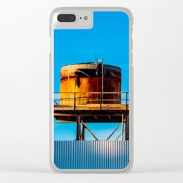 Water Tanks. Amboy. California. USA. Clear iPhone Case