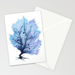 Fan Coral - Blue Stationery Cards