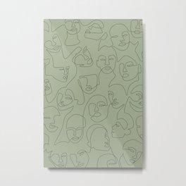 She's Green Metal Print