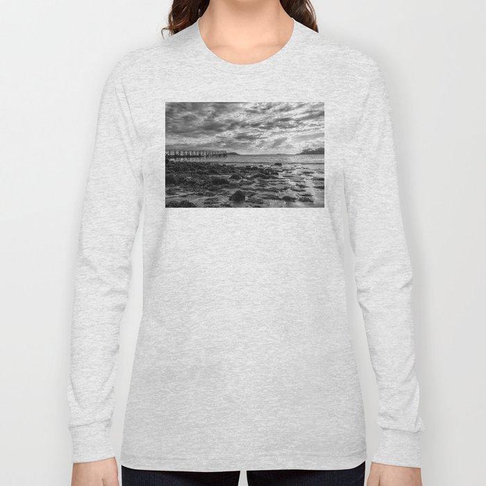 Magnolia Pier #2 B&W Long Sleeve T-shirt