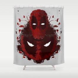 Dead Ink Blot Shower Curtain