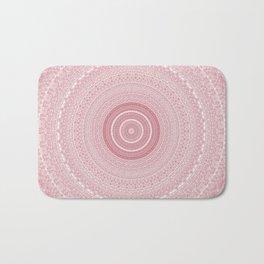 Boho Chic Glittery Pink Pastel Mandala Bath Mat
