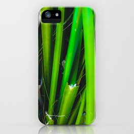 closeup green leaves texture abstract background iPhone Case