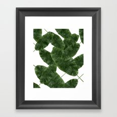 Banana Leaves V2 #society6 #decor #buyart Framed Art Print