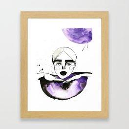 Kim-Chi posing and voguing Framed Art Print