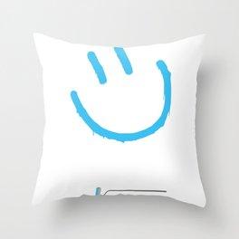 Street Art Happy Face Throw Pillow