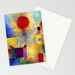 Paul Klee Red Balloon Stationery Cards