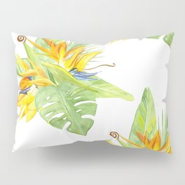 watercolor seamless pattern bird of paradise Pillow Sham