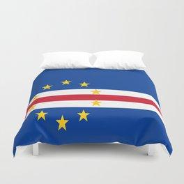 Flag of Cape Verde Duvet Cover