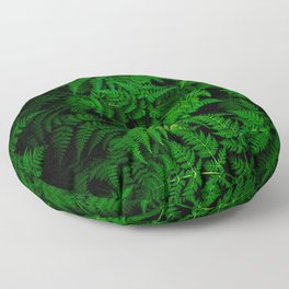 Deep Forest Ferns Floor Pillow