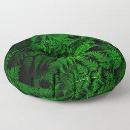 Deep Forest Ferns Floor Pillow