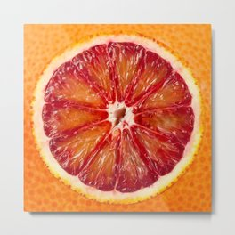 Blood Grapefruit Metal Print