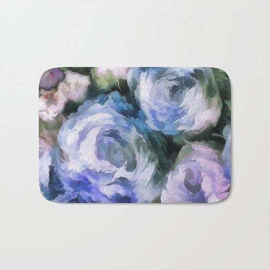 Blue rose. Bath Mat
