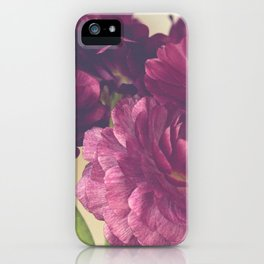 Romantic Ranunculus iPhone Case