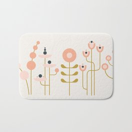 very graphic flowers Bath Mat
