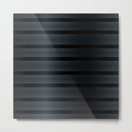 Black Silk Stripes Metal Print