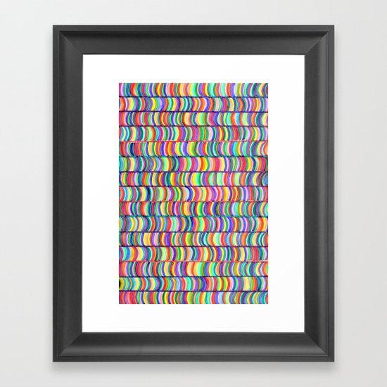 rainbows random Framed Art Print
