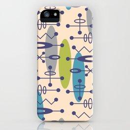 Mid Century Modern Radioactive Surfer 336 iPhone Case