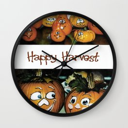 Happy Harvest II Wall Clock