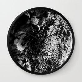 Textured Abstract Rock Wall Clock