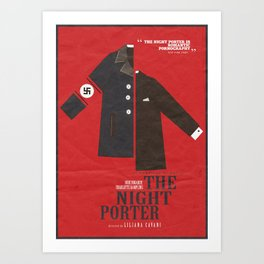 The Night Porter, movie poster, Liliana Cavani, Charlotte Rampling, Dirk Bogarde Art Print