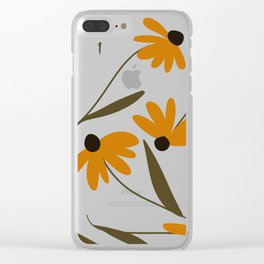 Autumn Floral Pattern Clear iPhone Case