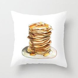 Pancakes Throw Pillow