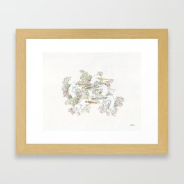 Eager Egrets Framed Art Print