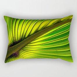 Green Burst Rectangular Pillow
