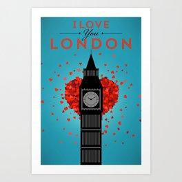 I Love You London Art Print